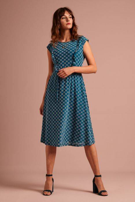 King Louie Adele dress Keylime bay blue 04751 435
