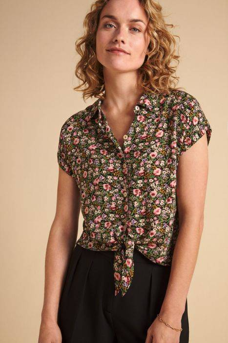 King Louie knot blouse Odyssey 05035 001