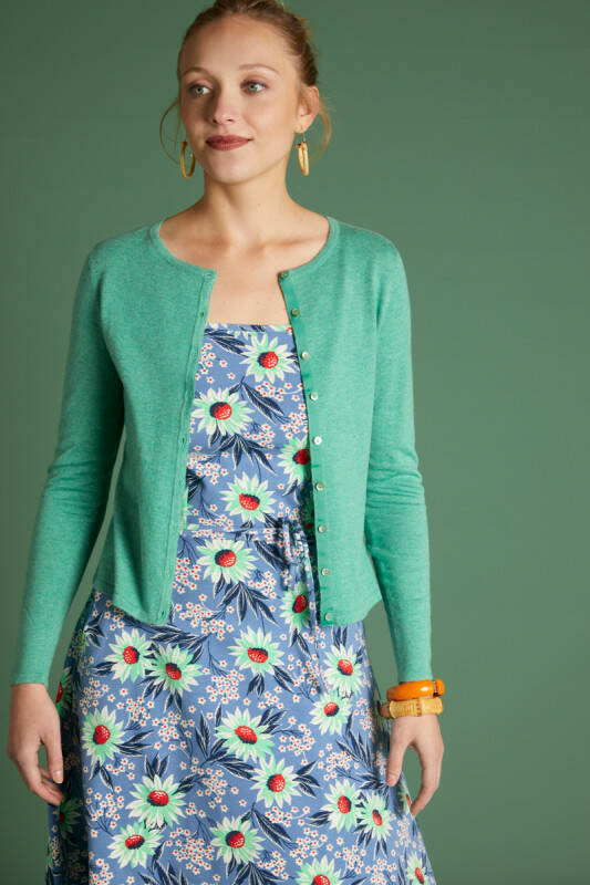 Cardi Roundneck Cocoon Opal Green 00139272