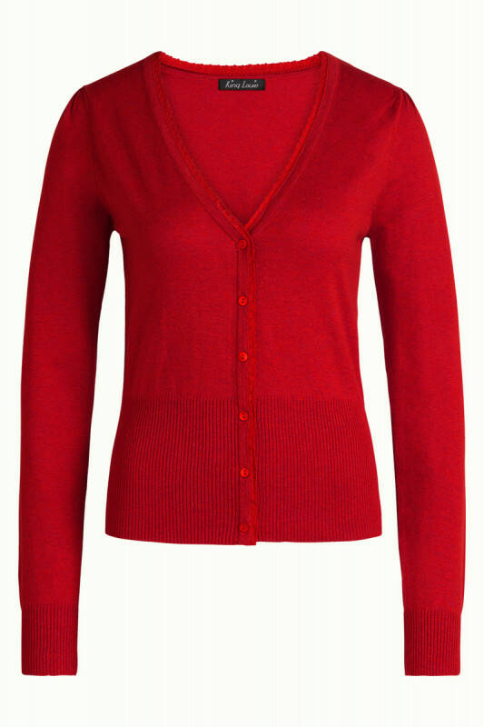 King Louie cardi cocoon icon red 00138 044