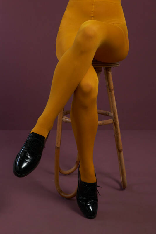 King Louie tights solid 120d 00679 805 sunset yellow