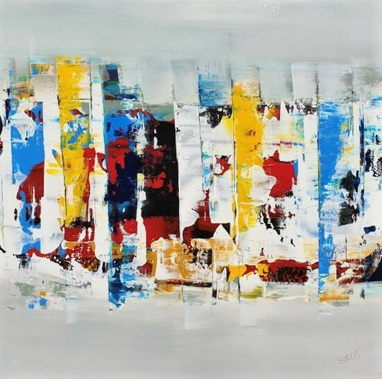 abstract 100 x 100 cm