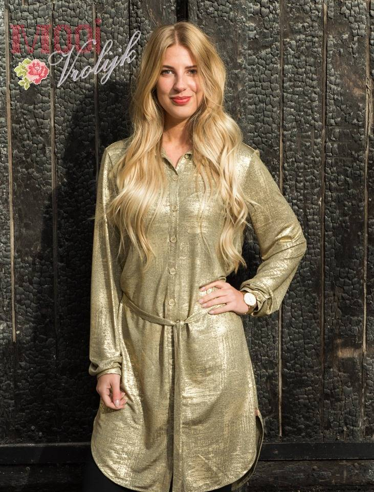 Blouse Flashy Long Gold