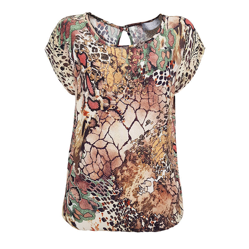 Top Jenna - Earth Print