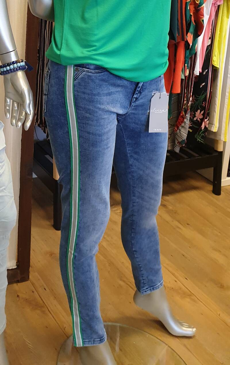Jeans Ivana - Stripe green