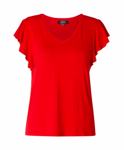 T-shirt Volant - Red