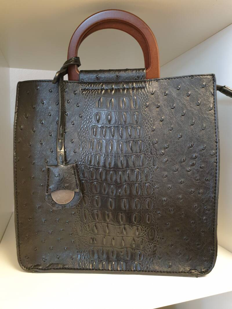 Croco bag - Black