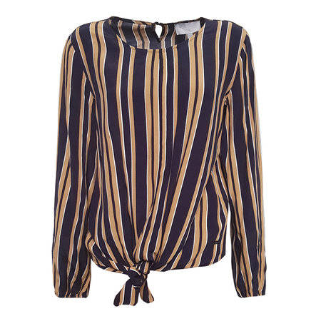Blouse Denise - Navy Camel Stripe