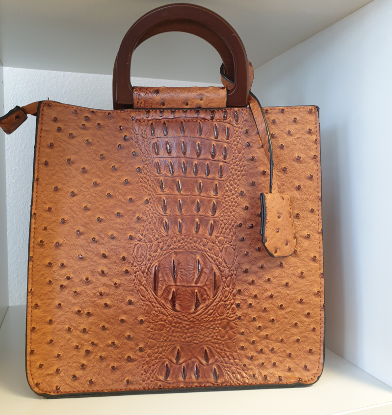 Croco bag - Camel