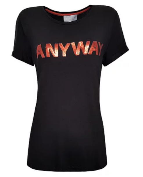 T shirt Amy - Black orange