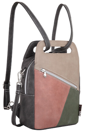 Tas Hope - Beige, Pink, Dark Green