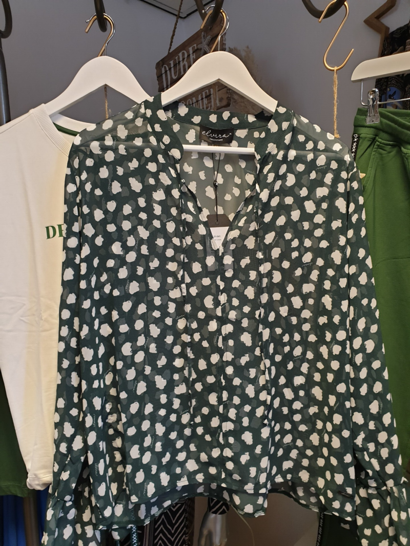 Blouse Luna - Dot Green
