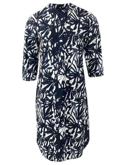 Jurk/ tuniek Loise Travelstof - Print Black/White