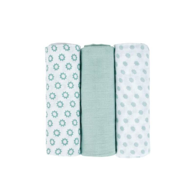 LÄSSIG swaddle/burp 3-pack