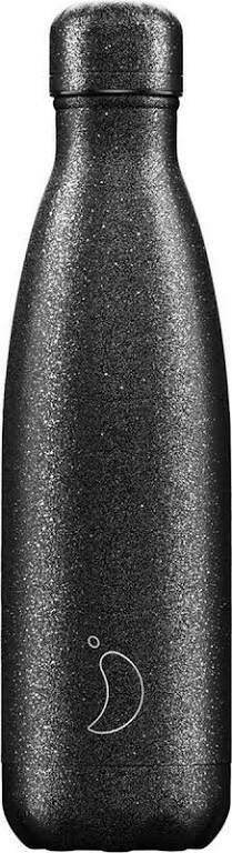Chilly's Bottle 500ml zwart glitter