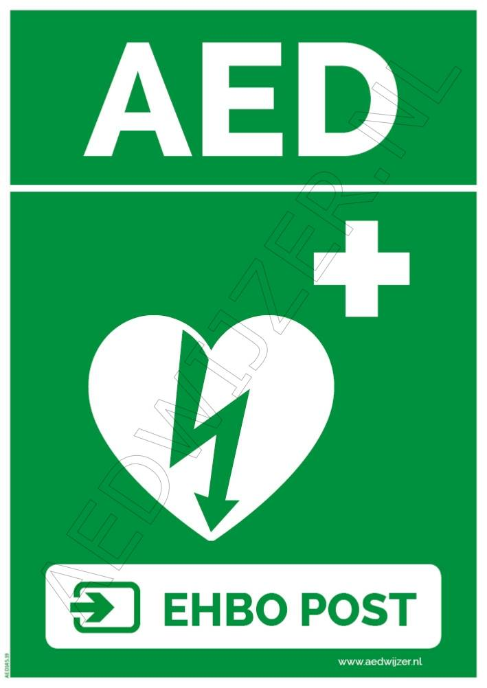 Sticker AED EHBO Post