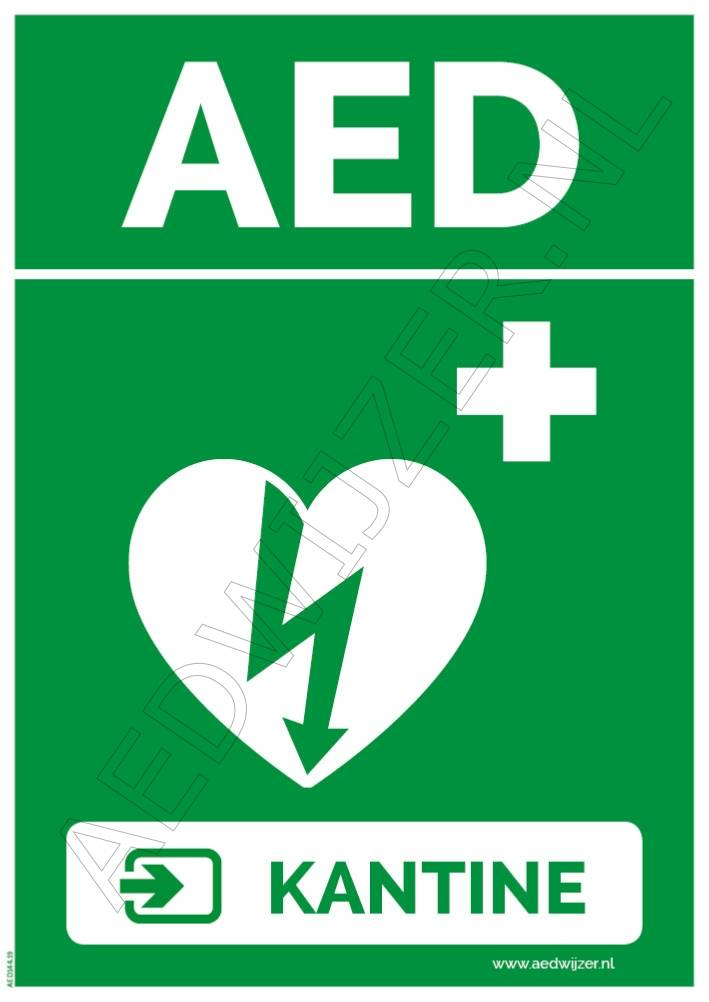 Sticker AED Kantine