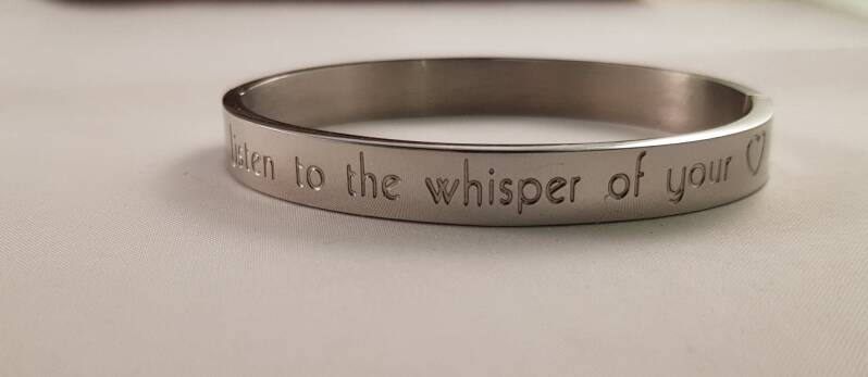 RVS quote armband zilver of rosé goud