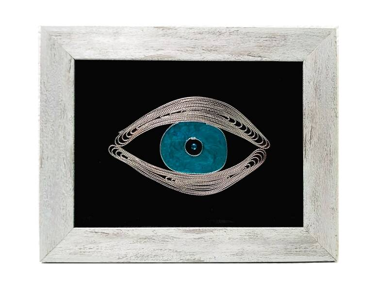 FILIGREE frame Evil Eye
