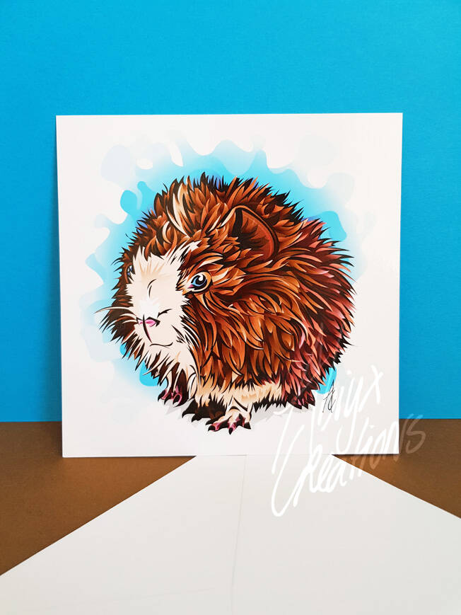 Guineapig mini Art Print with envelope