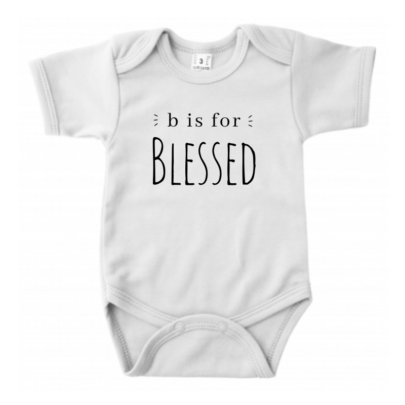 B is for Blessed // Ecru Romper // 62/68