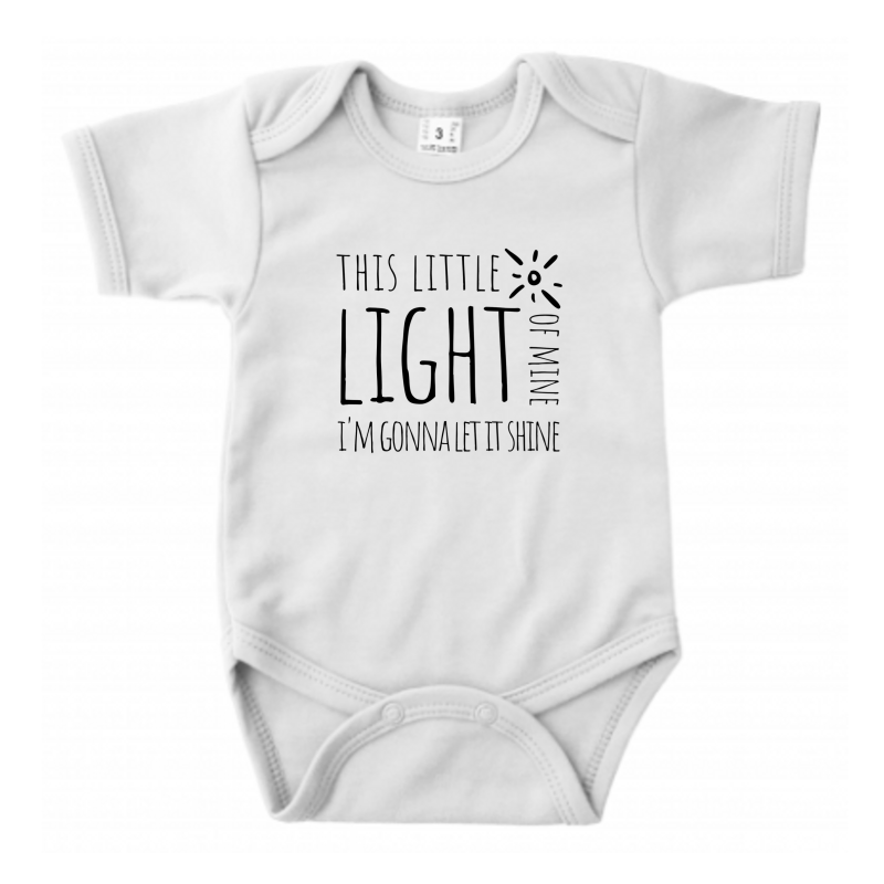 This Little Light of Mine // Ecru Romper // 62/68