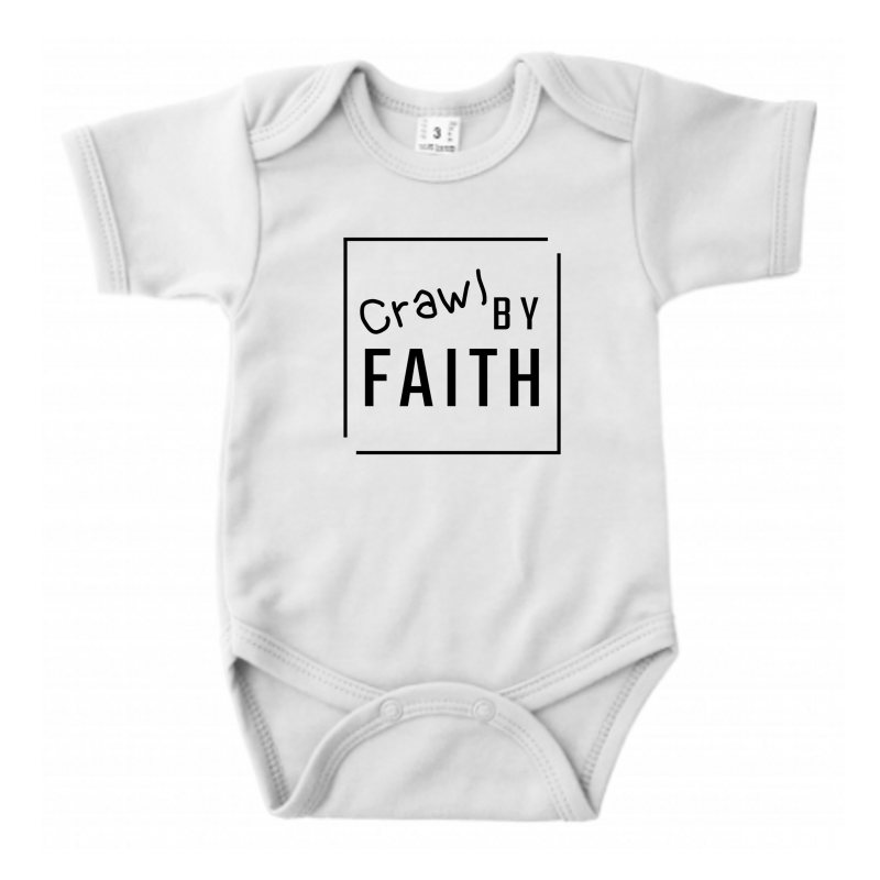 Crawl By Faith // Ecru Romper // 62/68