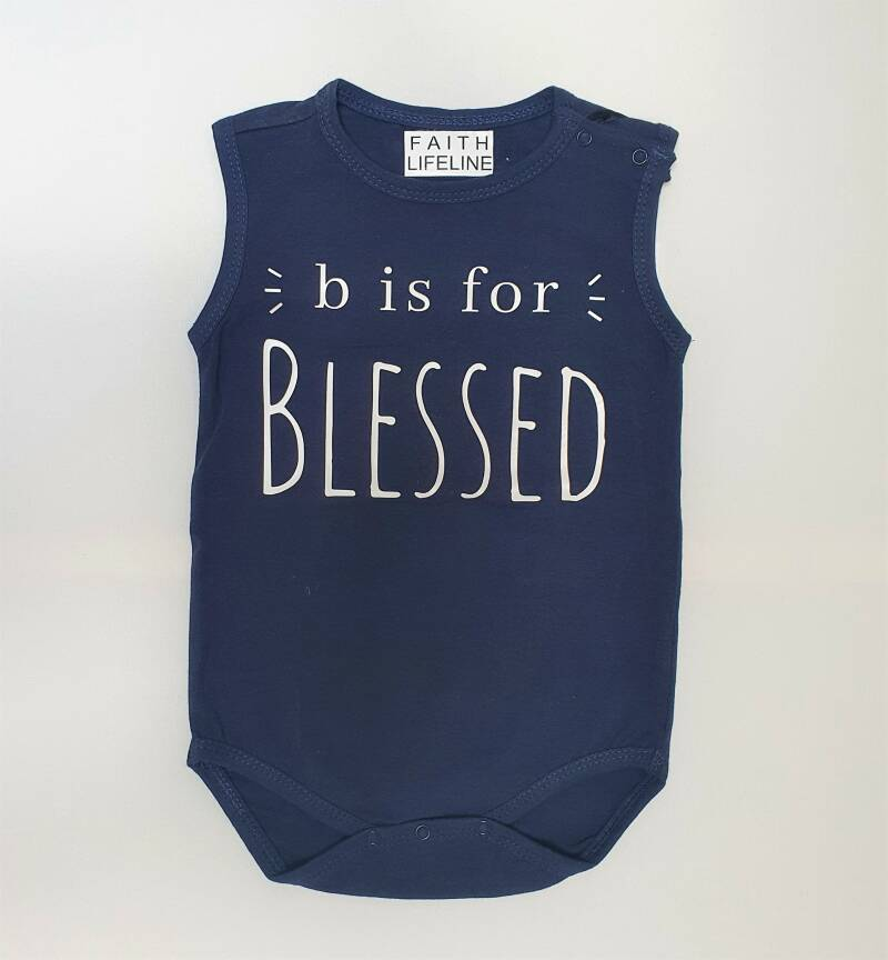 B is For Blessed // 86/92 Romper // Onesie