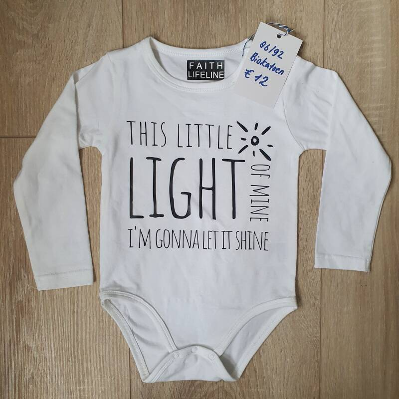 This Little Light Of Mine // 86/92 Romper // Onesie