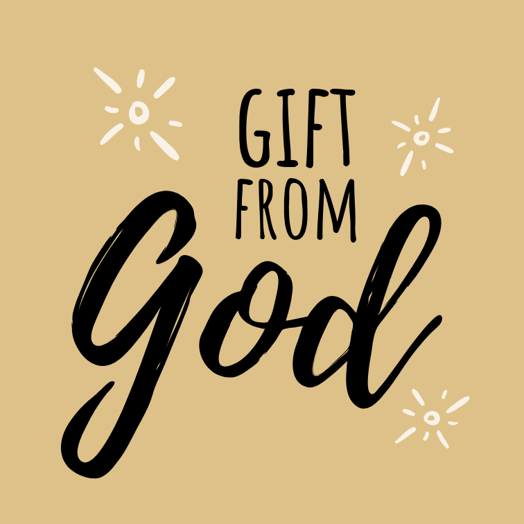 Gift From God // yellow/geel // 10 x 10 cm