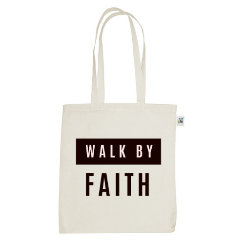 Tas Hannah // Canvas Tas // Walk by Faith