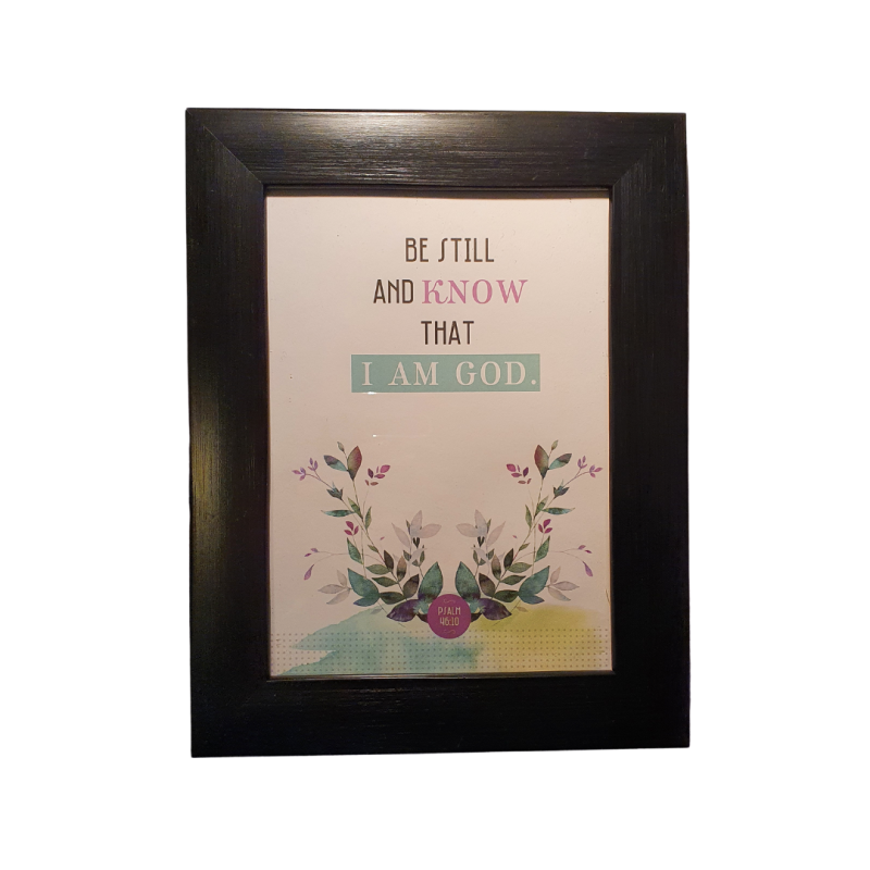 Be Still and Know   Fotolijst / Photo Frame   13 x 18 cm