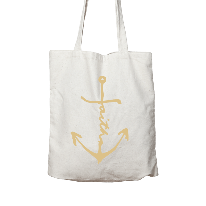 Solid Faith Anchor // Linen Canvas