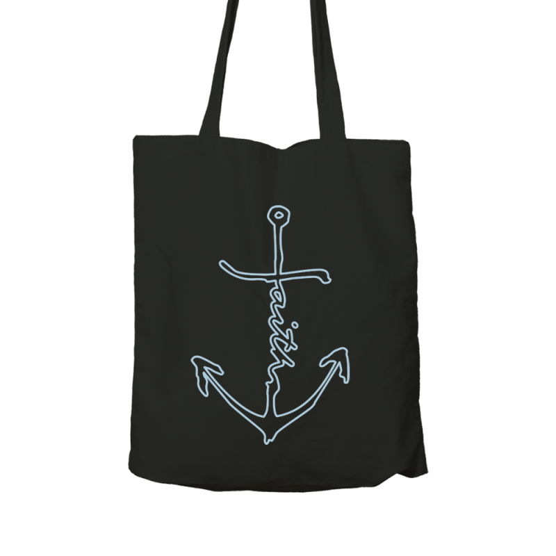 Outlined Faith Anchor // Black Canvas