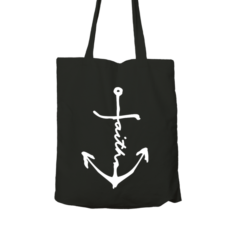 Zwarte Tas Faith Anker | Organic | Black Faith Anchor Bag