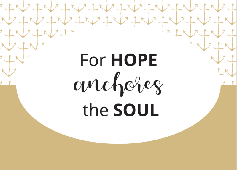 Hope Anchores // Postcard // A6