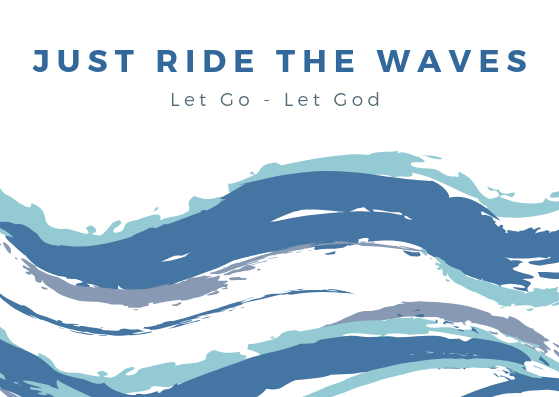 Just Ride The Waves // Postcard // A6