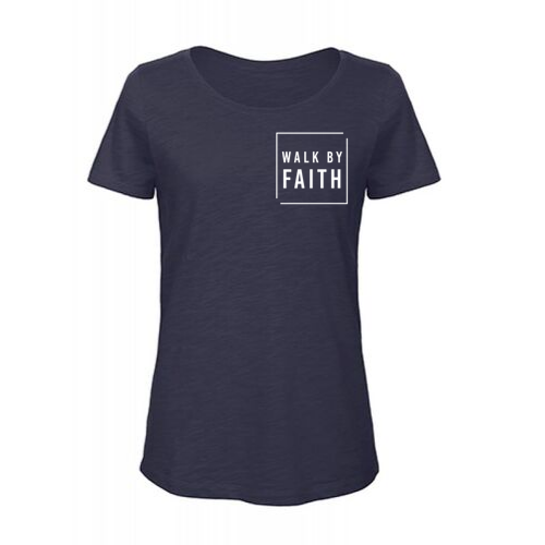 Bio Katoen Slub Shirt // Dames // Walk By Faith