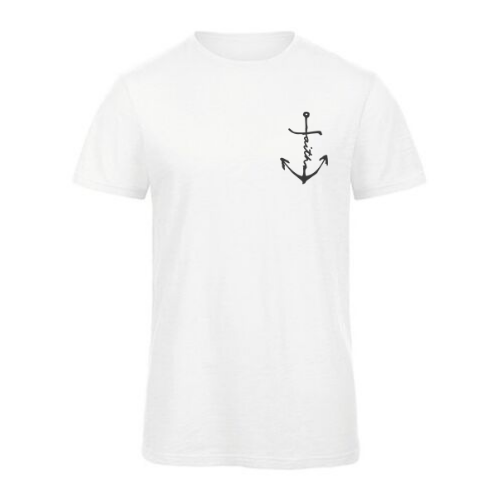 Organic Cotton Slub Shirt // Men/Unisex // Faith-Anchor