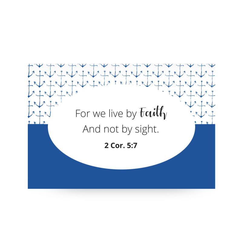 Shareable Blue // For We Live by Faith