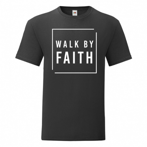 Big-Bro // T-Shirt // Walk By Faith // Groot Opdruk Borst