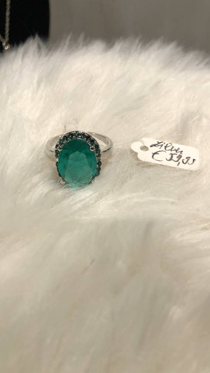RING ZILVER / TURQOISE