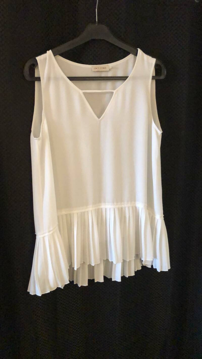 WITTE TOP  OKI COKY SIZE M