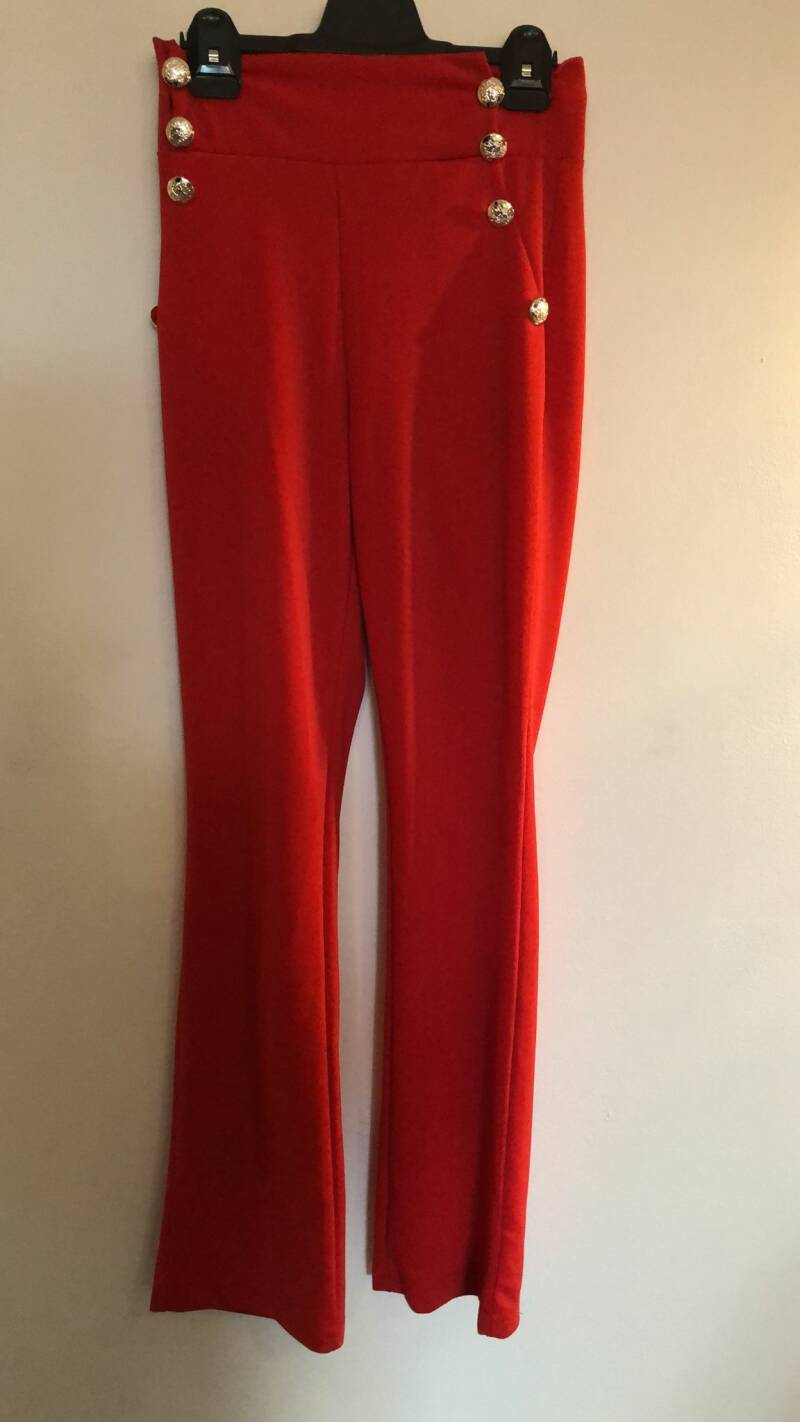 RODE BROEK  HOGE TAILLE ITALY SIZE S
