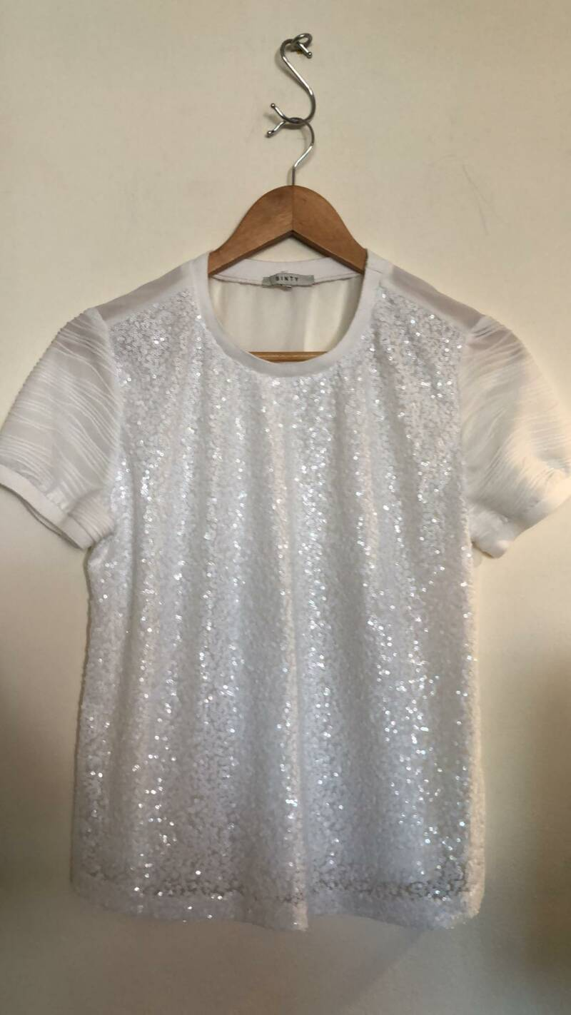 WITTE BLOUSE  SINTY  SIZE M