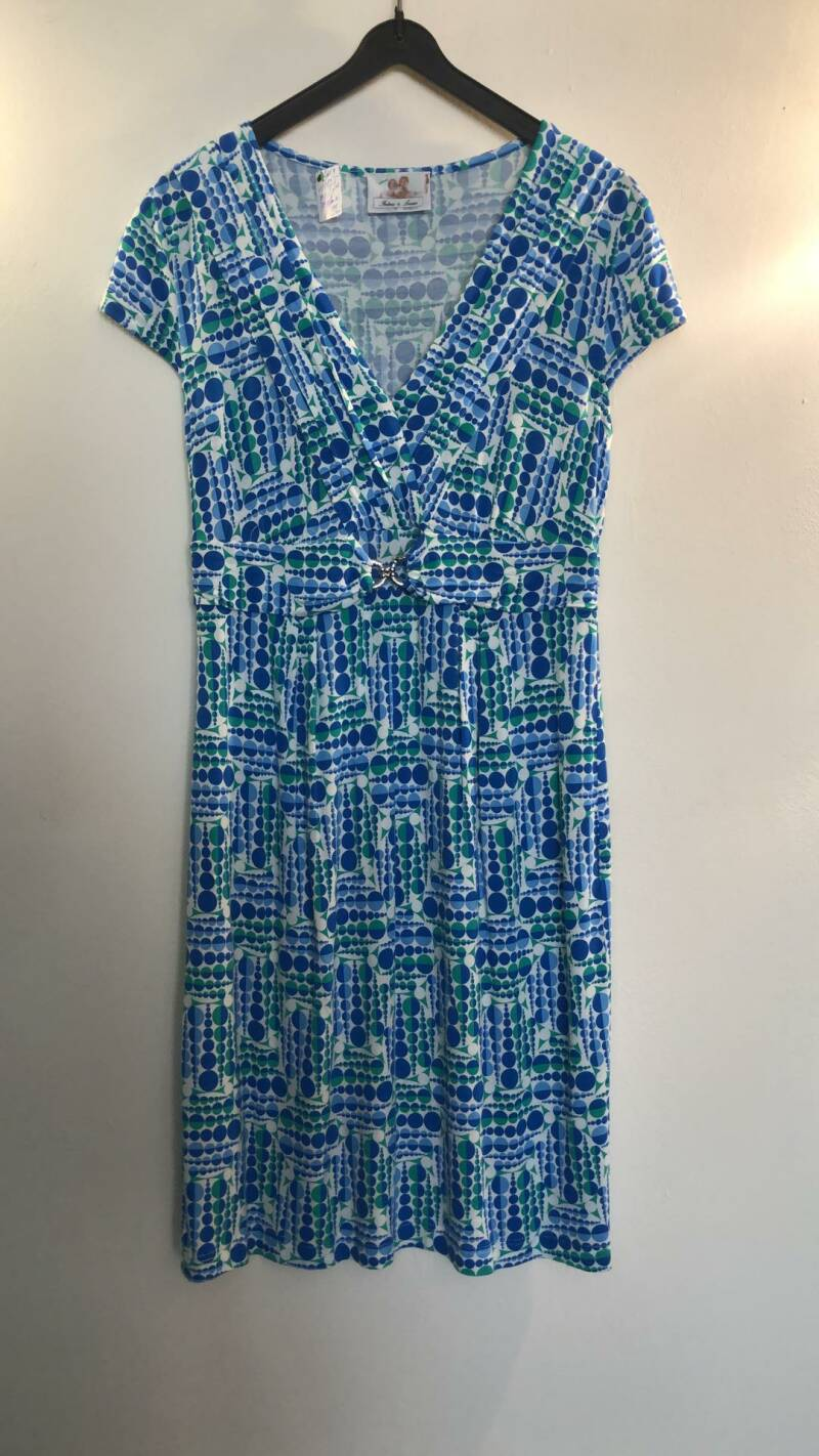 KLEEDJE BLAUW WIT GROEN THELMA AND LOUISE SIZE S