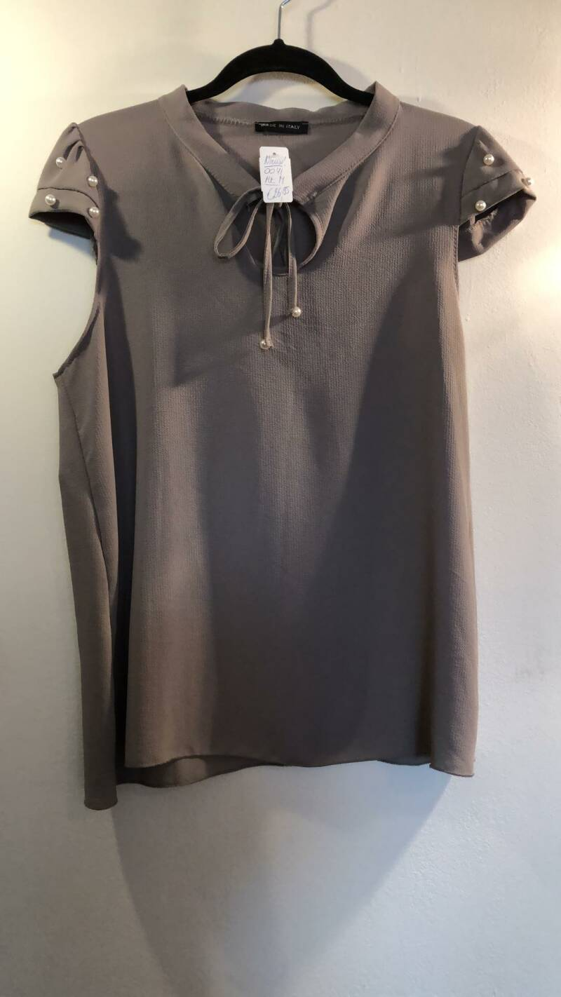 BLOUSE TAUPE NIEUW MADE IN ITALY SIZE M