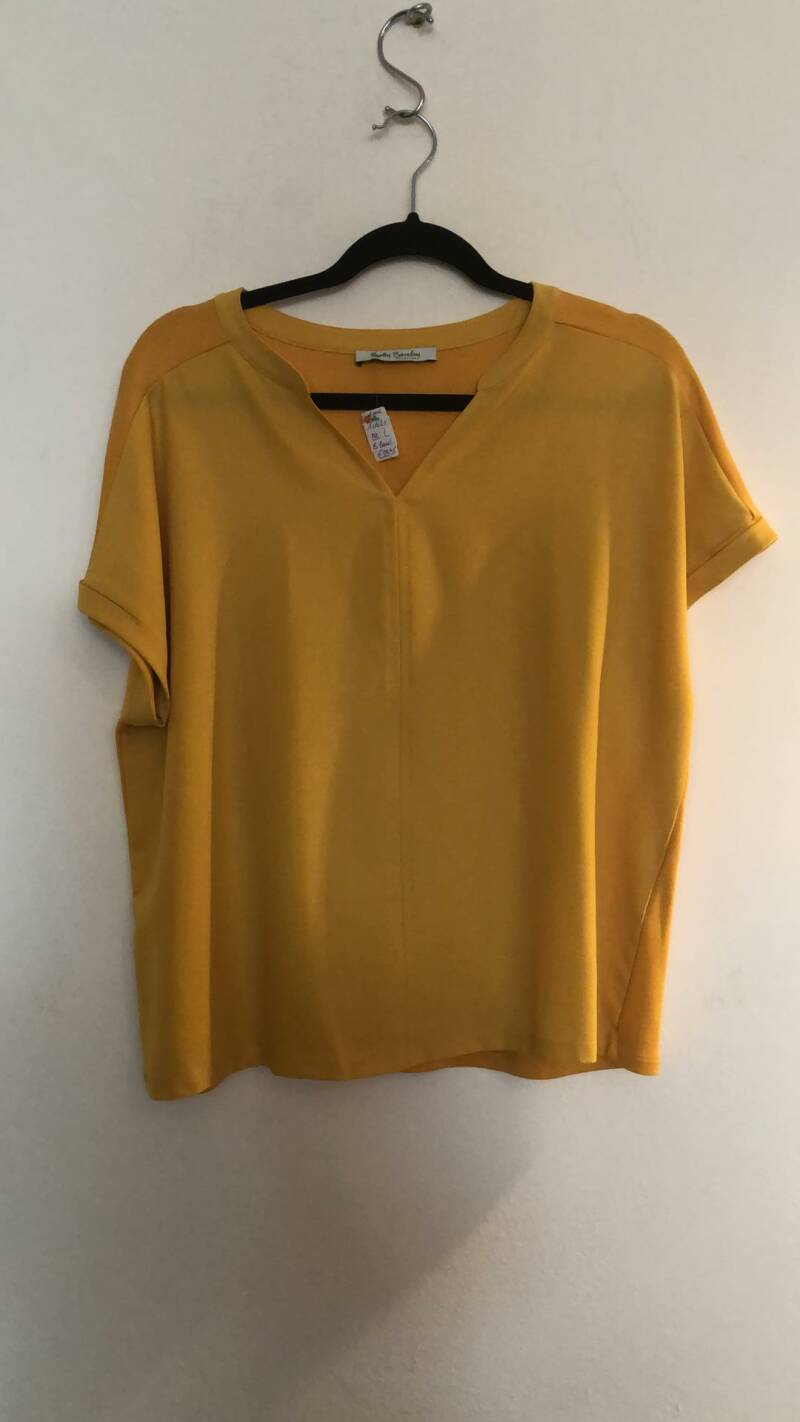 BLOUSE MOSTERDGEEL BETTY BARCLAY SIZE L