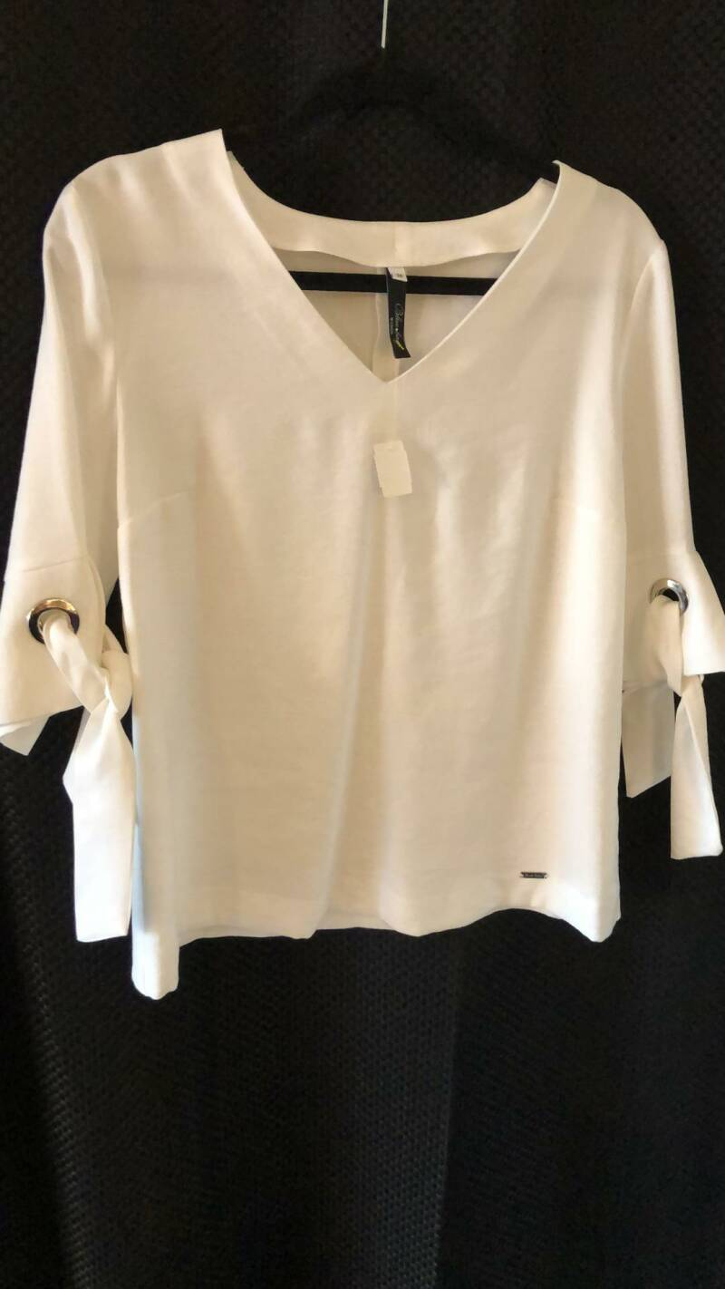 WITTE BLOUSE  BLUE BAY SIZE 38