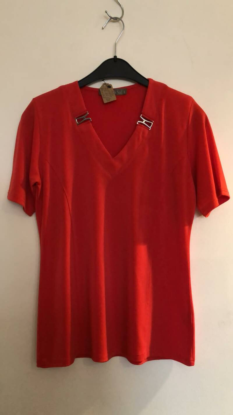 BLOUSE ROOD MER & SUD SIZE XS